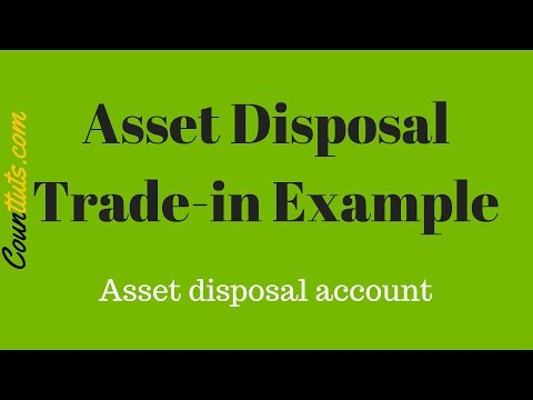 Asset Disposal | Trade-In Example