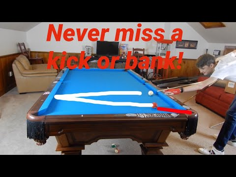 NEVER MISS A KICK OR BANK SHOT IN POOL!   Zero-X kicking/banking system