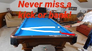 NEVER MISS A KICK OR BANK SHOT IN POOL! | Zero-X kicking/banking system
