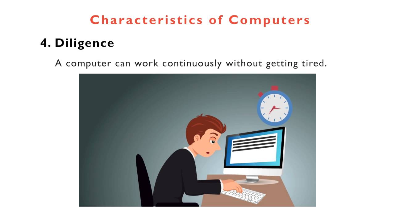 characteristics of computer Characteristics of various computer systems main characteristics of computer systems single user systems are systems that only allow for one user to access the.