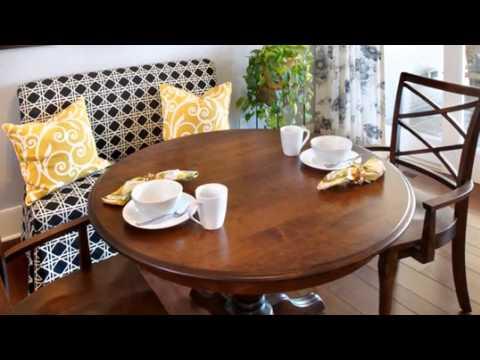 Красивые круглые столы в интерьерах
