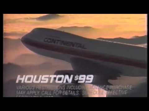"1987 Continental Airlines ""Best Value"" Commercial"
