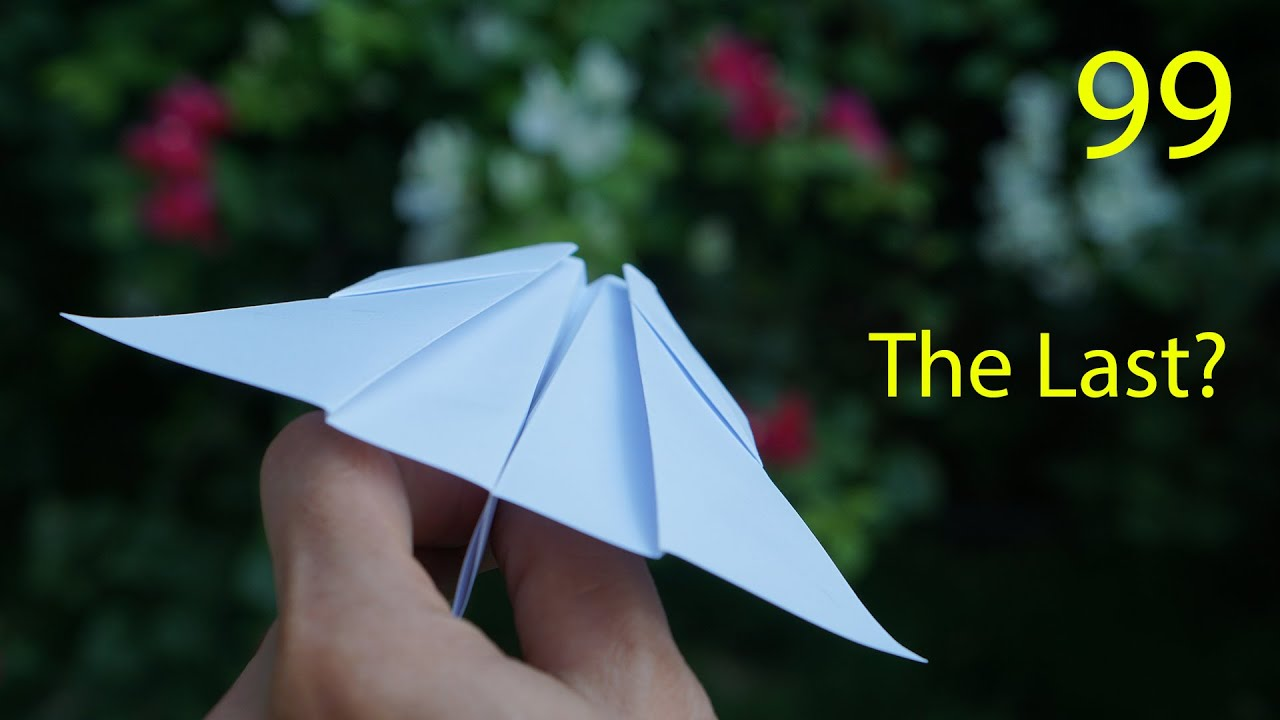 99 Paper Boomerang Plane Models, I Can't belive this before!!! It's maybe the last...