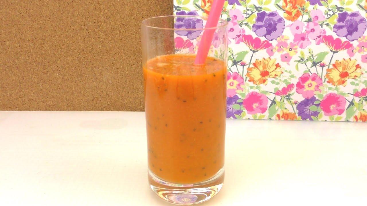 Power Getränk mit Gemüse und Obst - Kiwi-Karotten-Gurken Smoothie ...