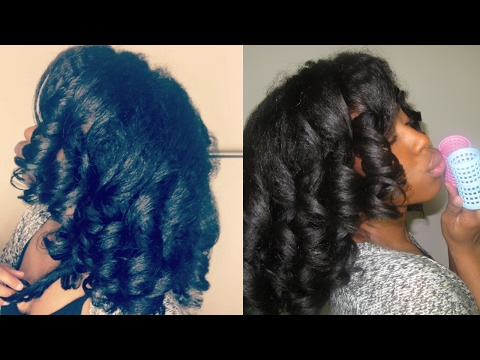 "Natural Hair Roller Set Review/ Tutorial on ""HOUR GLASS ROLLERS"" FROM longing4length"