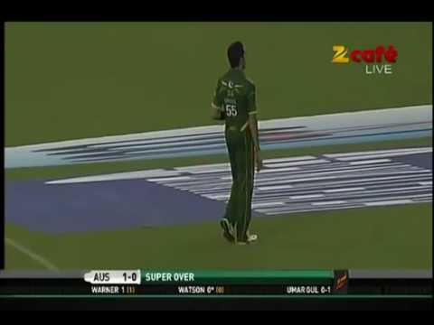 """Pakistan vs Australia, 2nd T20 """"07/09/2012"""" Super Over"""
