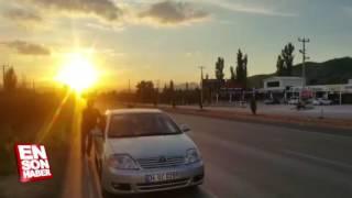 Çorum Osmancık'ta Radara yakalanmamak için arabayı ittirerek sürdüler