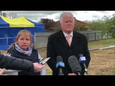 Det Supt Des Bray speaking about the discovery of remains at Maitland