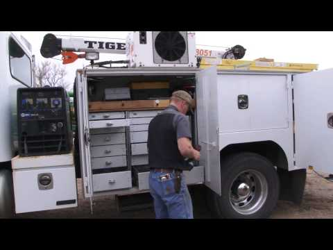 Ogallala Service Tech Jared Hartman and new Service Truck-Short
