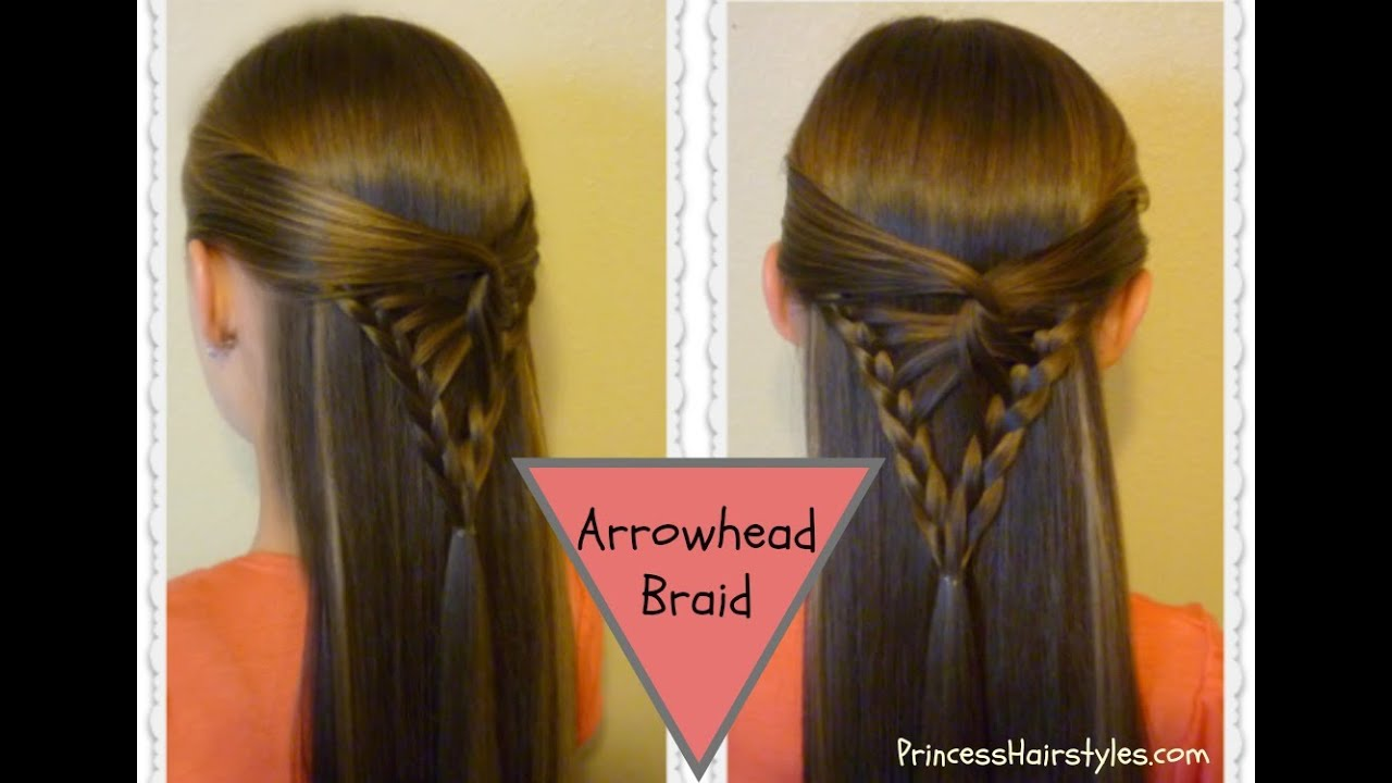 Hair Style Videos Youtube: Half Up Hairstyle, Arrowhead Braid Tutorial