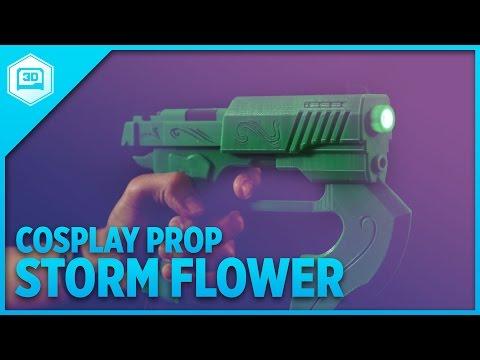 3D Printed #RWBY Stormflower - NeoPixel Cosplay Props!