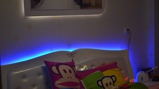 How To Connect Single Color Smd5050 Flexible Led Strip Lights To Illuminate Bedroom Backlighting