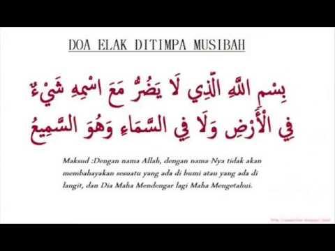 Zikir Doa Elak Ditimpa Musibah
