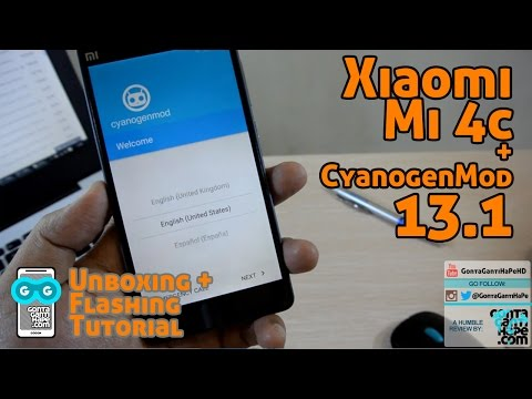 Xiaomi Mi 4c - Unboxing & TUTORIAL Flashing CyanogenMod 13.1