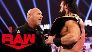 Goldberg challenges Drew McIntyre to Royal Rumble showdown: Raw, Jan. 4, 2021
