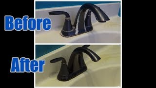 How to Clean Hard Water Deposits off a Bronze Faucet