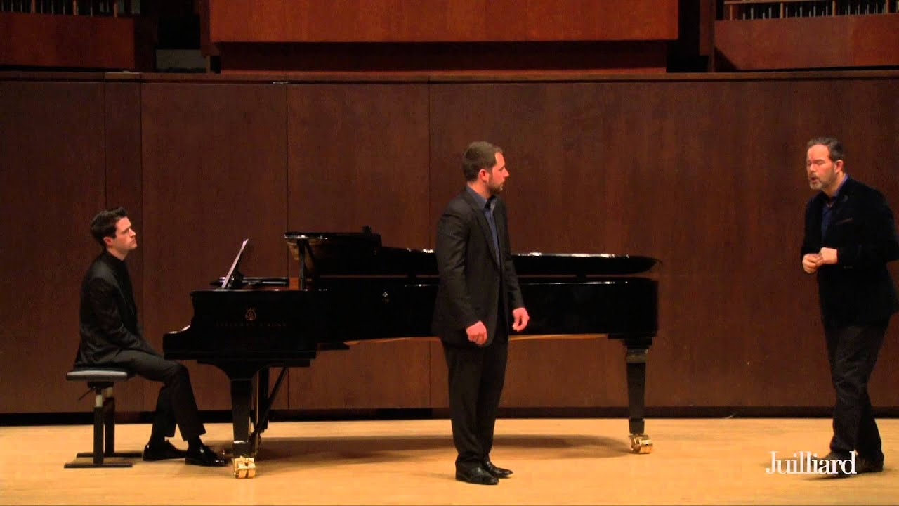 Gerald Finley Master Class, May 7, 2015: Joe Eletto and William Kelley