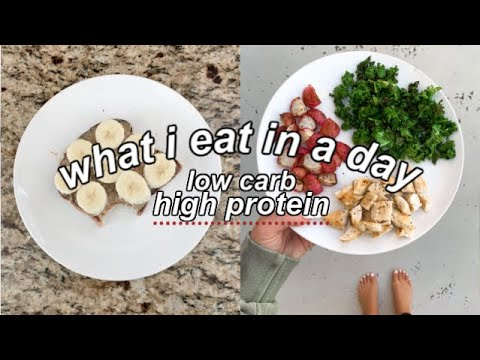 what I eat in a day: low carb & high protein
