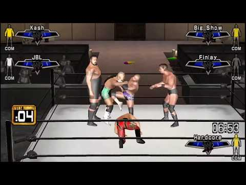wwe SmackDown down vs raw 2007 Royal Rumble match psp (2017) Gameplay
