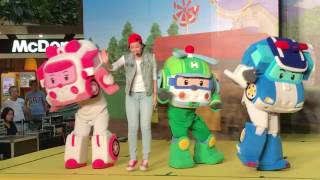 Robocar Poli (로보카 폴리) & Friends (Helly & Amber) In Action at The Seletar Mall, Singapore (Live Show)