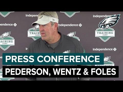 Doug Pederson, Carson Wentz & Nick Foles Speak After Practice | Philadelphia Eagles