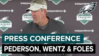 Doug Pederson, Carson Wentz & Nick Foles Speak After Practice | Philadelphia Eagles