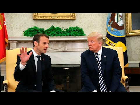 Trump and Macron joint news conference at the White House