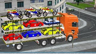 Cargo Bike Car Transport 3D and Truck simulator Trailers Android Gameplay Best Games walkthrough