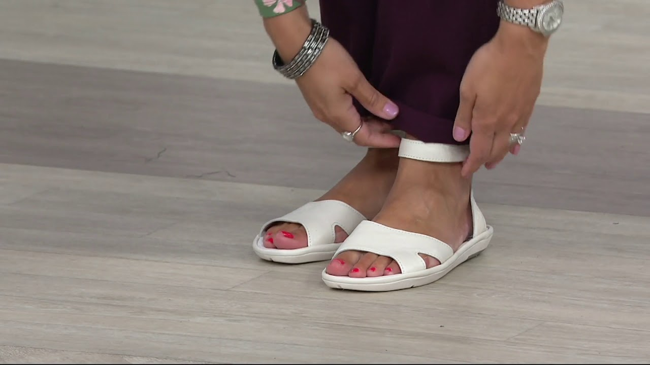 972823d4206 FLY London Leather Ankle Strap Sandals - Mafi on QVC - YouTube