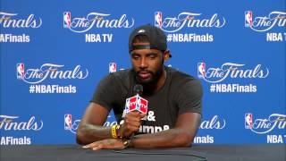 Kyrie Irving discusses his fractured knee cap and the play of LeBron James and Matthew Dellavedova i