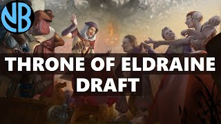 THRONE OF ELDRAINE DRAFT!!! UNDEFEATED WITH BEST PACK OPENING EVER?!?