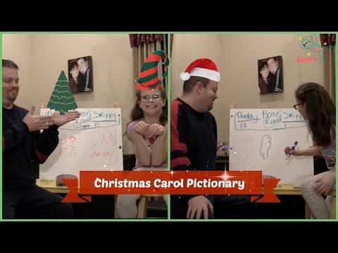 Christmas Carol Pictionary Skippy VS Daddy!! | Skippy The Gymnast