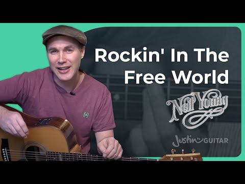 Rockin In The Free World - Neil Young - Guitar Lesson (ST-910) How to play acoustic
