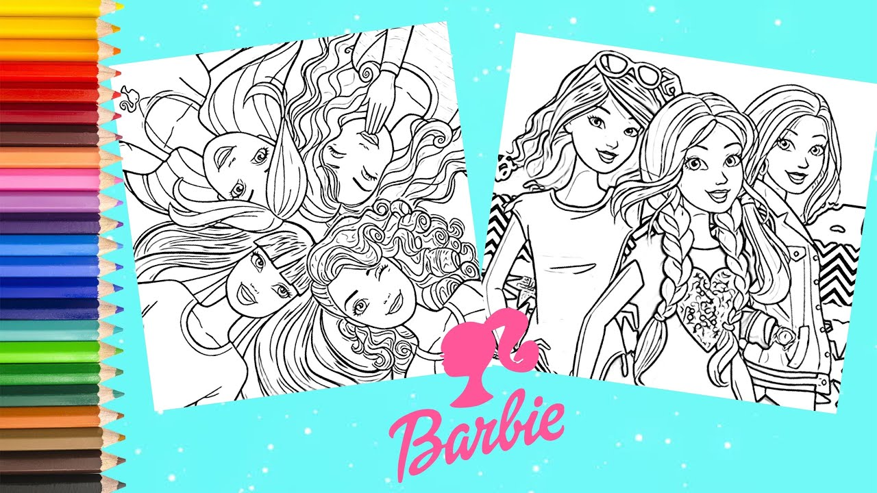 Barbie and Friends Coloring Pages - Barbie Dreamhouse ...