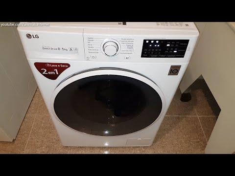 LG Washer Dryer Inverter Direct Drive 8/5 Kg F4J6TM0W: Unboxing, Exploring, Programs, Menus