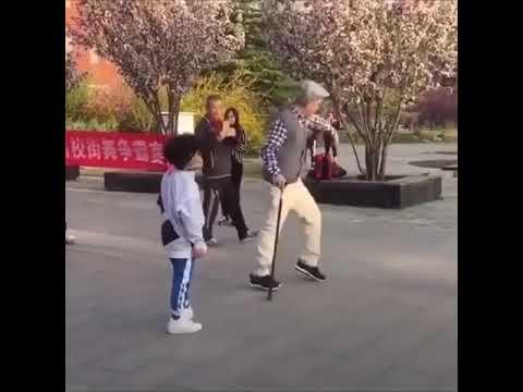 Old man vs lil boy dance thumbnail