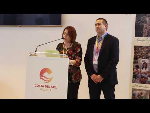 Presentación de Almáchar en Fitur 2019. Habla la edil Aroa Palma