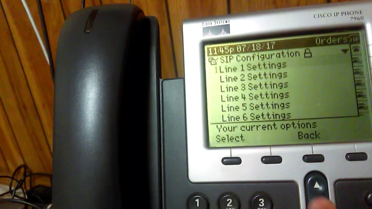 Cisco IP Phone System - 7960 Configuration For Voip MS
