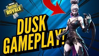 DUSK Skin Gameplay! In Fortnite Battle Royale