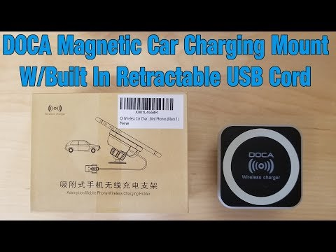Doca QI Wireless Magnetic Car Charger Mount - Setup & Review