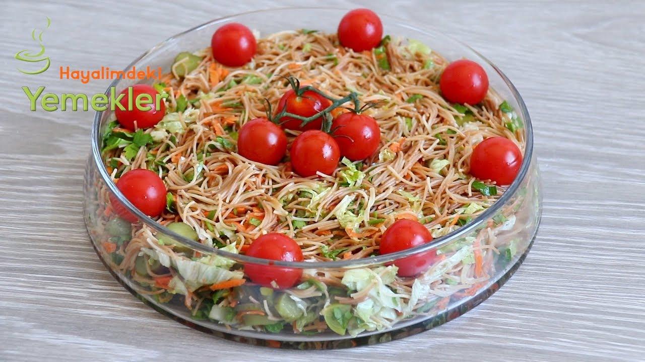 Evde olan Malzemelerle  Çok Nefis Bir Lezzet - Tel Şehriye Salatası
