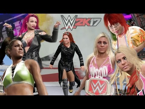 6 WOMAN LADDER MATCH!!! | WWE 2K17 PRE RELEASE GAMEPLAY (2K Playtest)