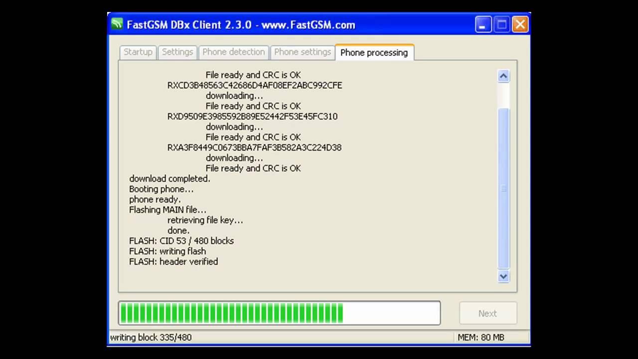 menu flash para sony ericsson w380