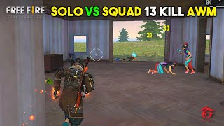 Solo vs Squad I Kill Joker and Game End with AWM Must Watch Gameplay - Garena Free Fire