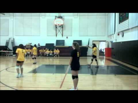 Amity Middle School Orange Volleyball