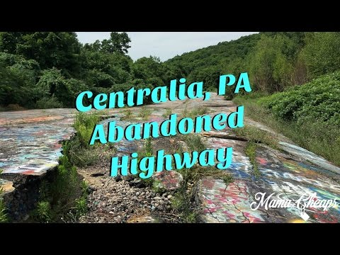 Abandoned Highway In Centralia PA Ghost Town Coal Mine Fire
