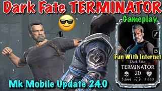 MK Mobile Dark Fate Terminator Gameplay | Mortal Kombat Mobile Update 2.4.0