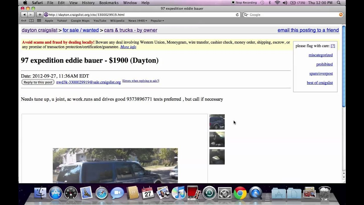 Craigslist Dayton Ohio Used Cars Deals On Local Owner Vehicles In October 2012 Youtube We have 34 cars for sale listed as craigslist ohio, from just $8,000. craigslist dayton ohio used cars deals on local owner vehicles in october 2012