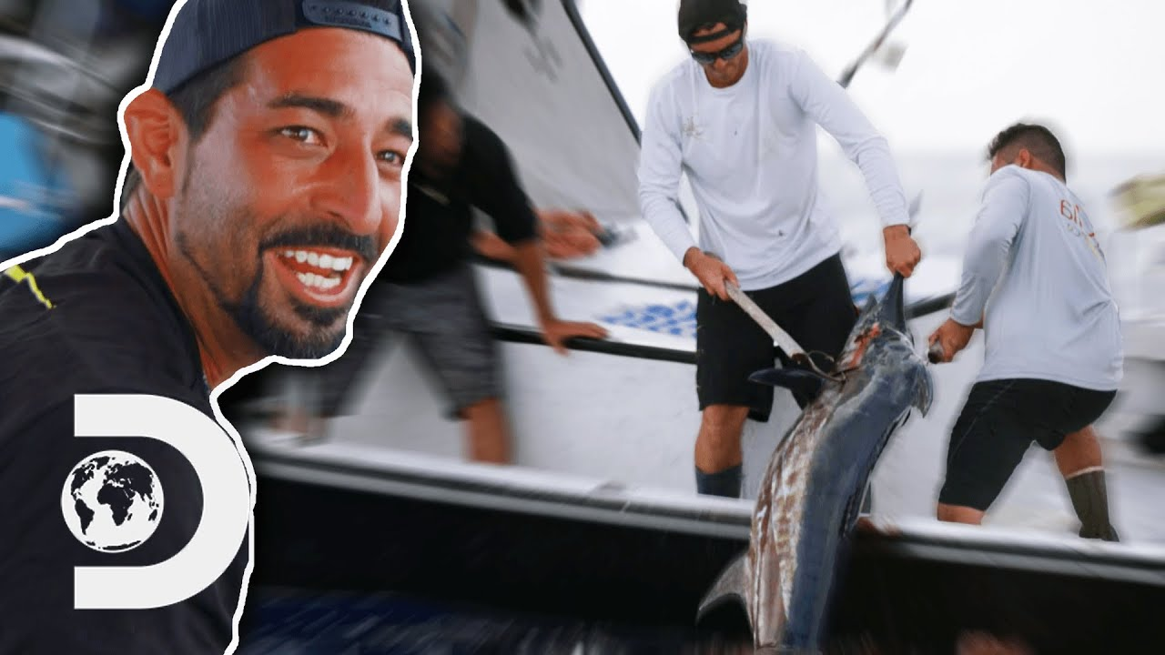 Josh Harris Reels In His First Marlin!   Deadliest Catch: Bloodline