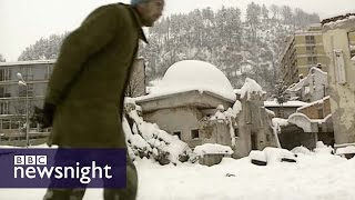 The killing fields of Srebrenica - Newsnight archives (1996)